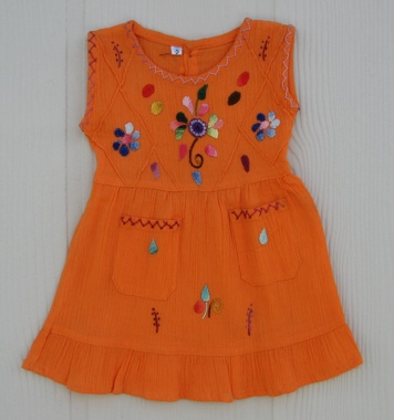 "Girl Mexican Dress ""Naranja 4"""