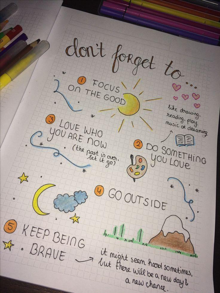 Bullet-Journal: Vergessen Sie nicht .. Einfaches Zeichnen und Spaß machen