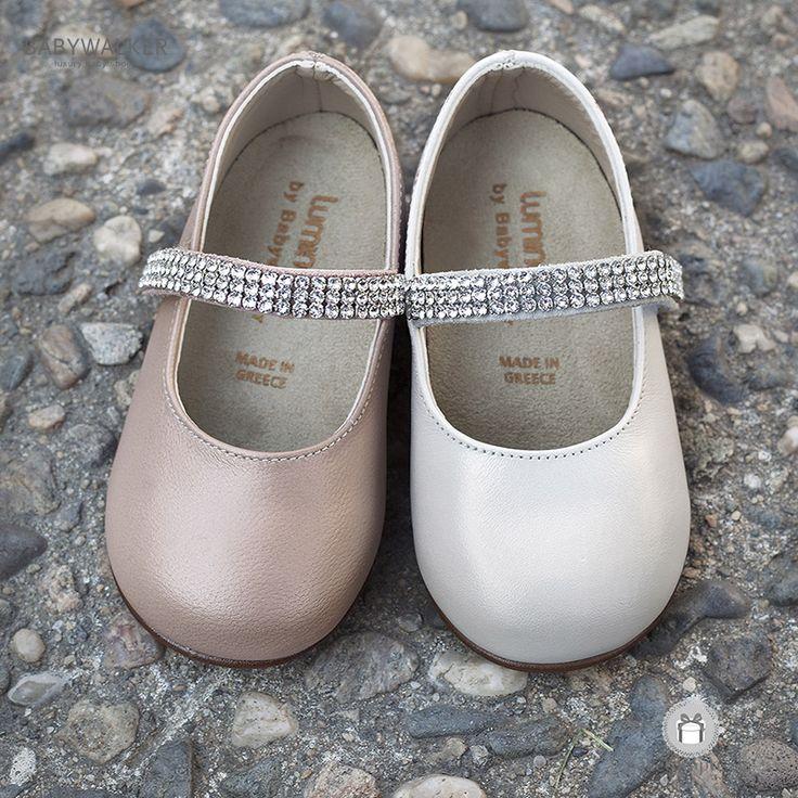 Παπουτσάκια για Κορίτσια με Μπαρέτα από Strass Swarovski Babywalker LU6003