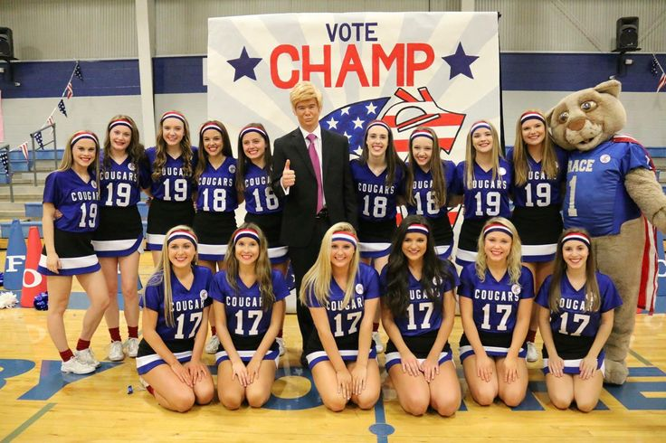 Election Themed  Pep Rally 11•4•16 Cheer Team Picture