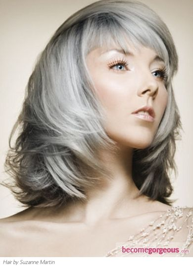 Image detail for -Medium Gray Hair Style - Medium Long Hairstyles Pictures