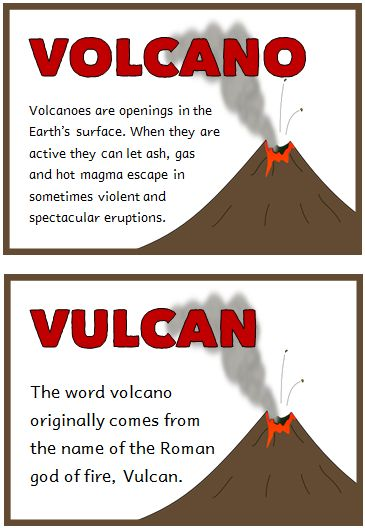 Volcanoes Fact Cards - Treetop Displays - Printable EYFS ...