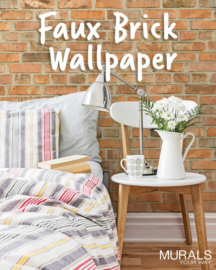 Love the look of exposed brick walls? Try adding a brick wallpaper mural to get the look. It's so much easier to install, less messy, and less expensive than real brick! #myMYWmural