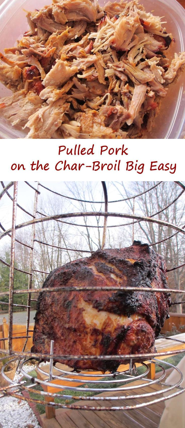 Pulled Pork on the Char-Broil Big Easy