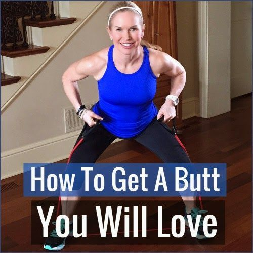 This workout is designed to tighten and tone your backside without any form of a squat or lunge. Not one. We promise! All you'll need is a resistance band and a sturdy chair.