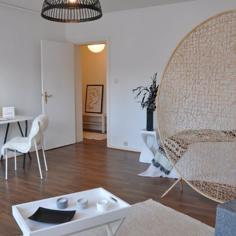 Eleganter raumteiler in kleiner wohnung optimmo home staging