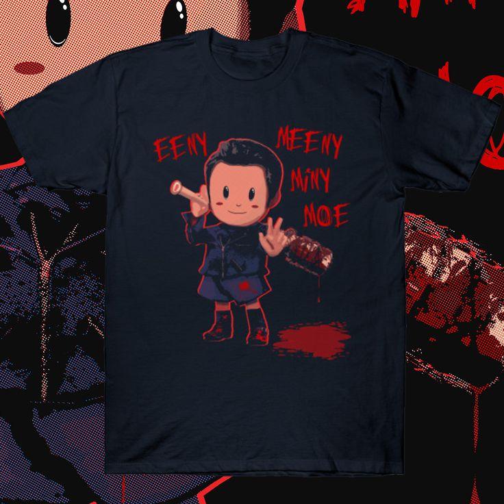 Eeny Meeny Miny Moe (Ness + Negan Mashup) T-shirt  #gamer
