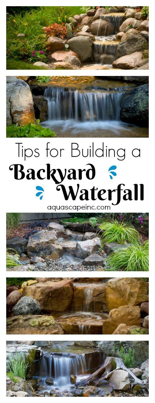 Tips for Building a Backyard Waterfall. It's easier than you think and creates a beautiful outdoor retreat!