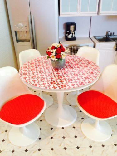 OOAK-1-6-Red-White-Table-Fashion-Royalty-Silkstone-Barbie-Diorama