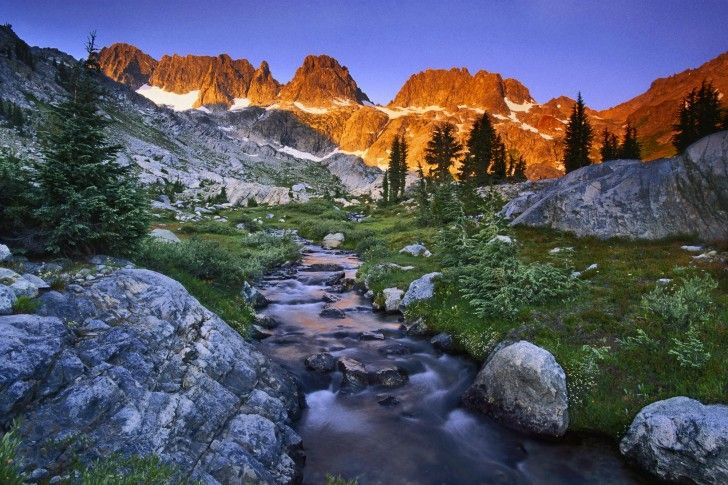 California-the Ansel Adams Wilderness located in the Sierra Nevada mountains