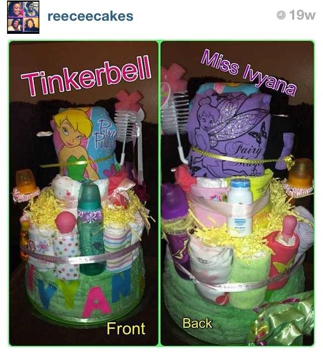 Tinkerbell Diapercake. TinkerbellBaby ShowerShower Ideas