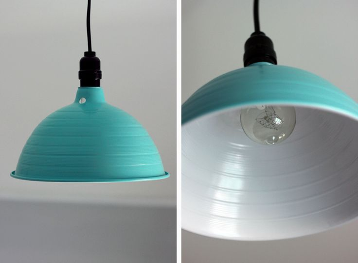 DIY Industrial Light by merrythought. Thinking of kitchen lighting solutions....