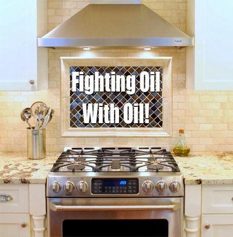 Πολεμήστε τους λεκέδες από λάδι στην κουζίνα με λάδι