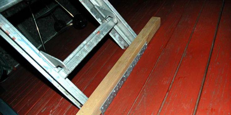 PASS PÅ: Du må være både forsiktig og nøye når du setter opp en stige.