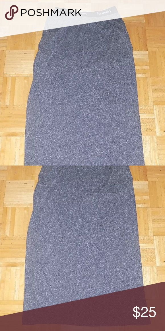 Superdry Knit Grey Maxi Skirt Brand new with tags and waist band has Superdry logo all around. Superdry Skirts Maxi
