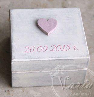 varia: Pudełko na obrączki w odsłonie nr 2 :)