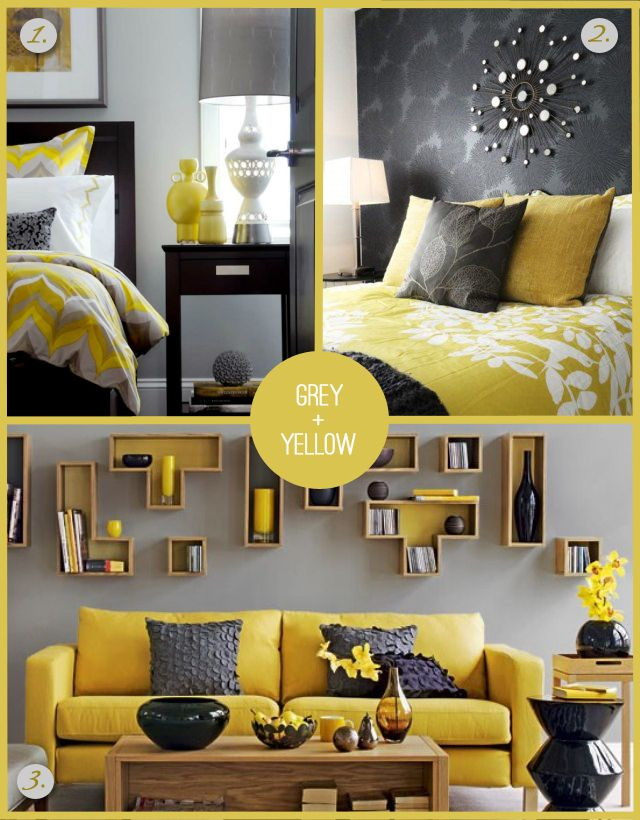 grey and yellow - Suitable Colours For Living Room