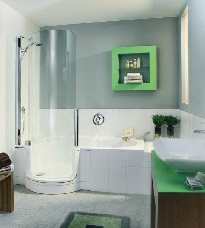 Small Bathroom Tub And Shower Combo: Walk In Tub/shower Combination