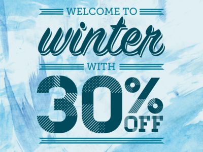 Welcome to Winter Sale Poster