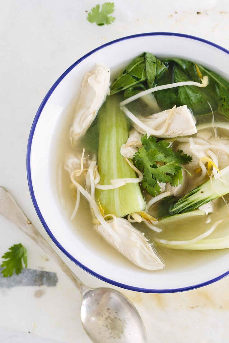 A nourishing and healing soup packed with immune boosting ingredients! A simple flu-fighting broth that you can make in less than 30 minutes.