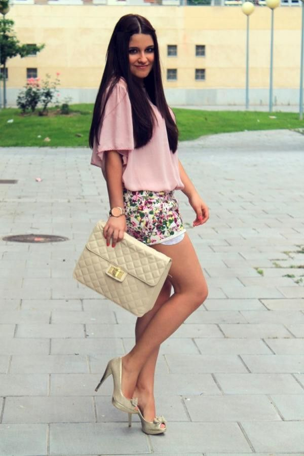 Floral short sweet and romantic style