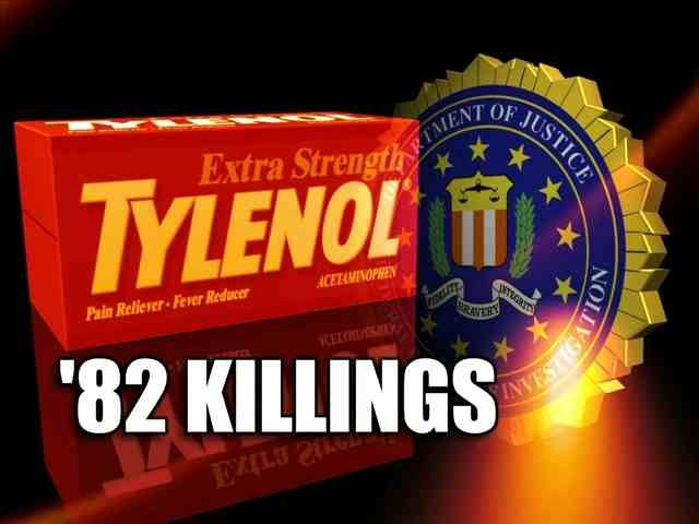 The Chicago Tylenol murders occur when 7 people in the Chicago area die after ingesting capsules laced with potassium cyanide. The case is never solved and a $100,000 reward for the killer's arrest and conviction remains unclaimed. The murders lead to stricter federal anti-tampering laws and tamper-proof seals for all OTC medications.