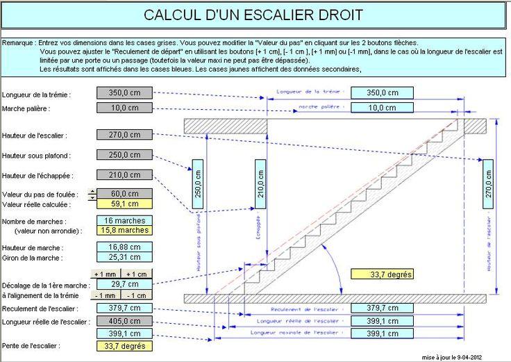 M s de 1000 ideas sobre calcul escalier en pinterest am nagement sous escalier cloison - Calcul escalier demi tournant ...