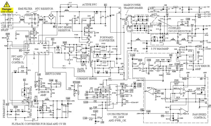 schematic for atx1523d power supply  Google Search
