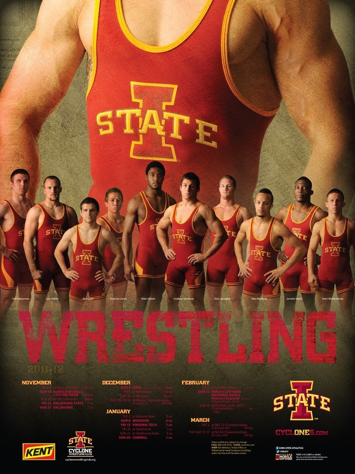 2012 Iowa State Wrestling Poster  These guys are the BEST! :)