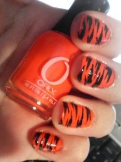 Best 25 tiger nail art ideas on pinterest tiger stripe nails i love my tiger stripe nails prinsesfo Image collections