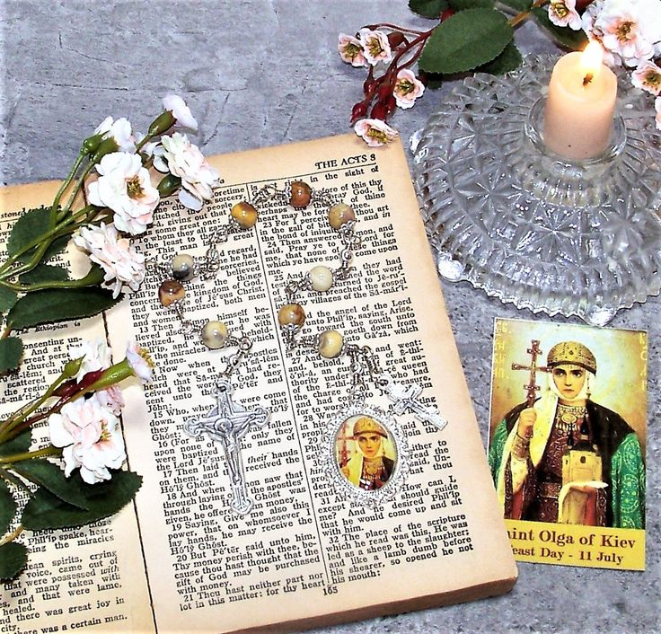 Unbreakable Catholic Chaplet of St. Olga of Kiev - Patron Saint of Widows and Converts by foodforthesoul on Etsy
