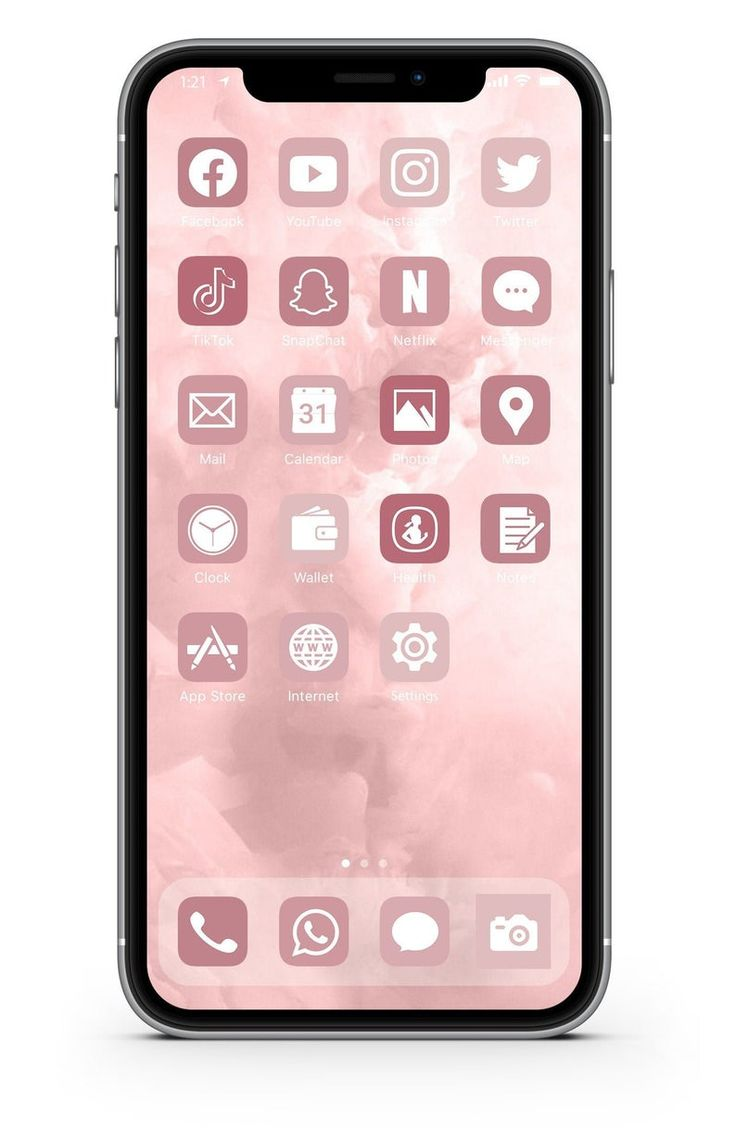 iOS Icon Lifetime All Access Pack   Rose Gold iPhone IOS21 App ...