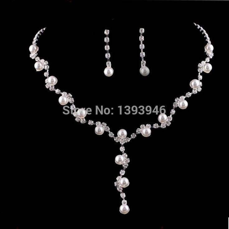 Free Shipping Fashion Prom Wedding Bridal Crystal Rhinestone Necklace Earring Jewelry Set ZB380