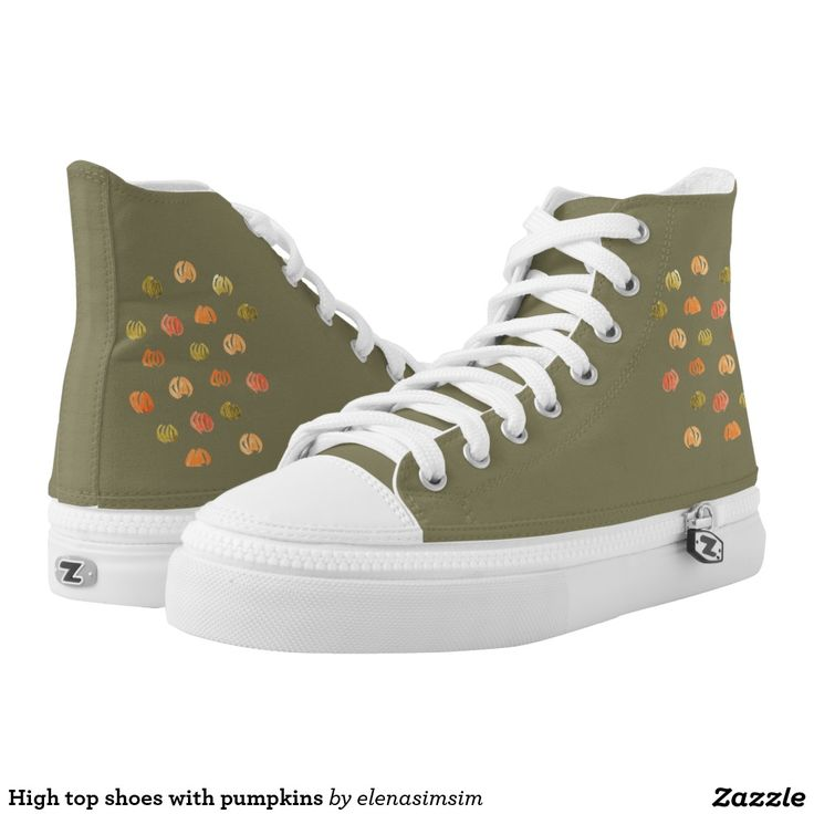 High top shoes with pumpkins