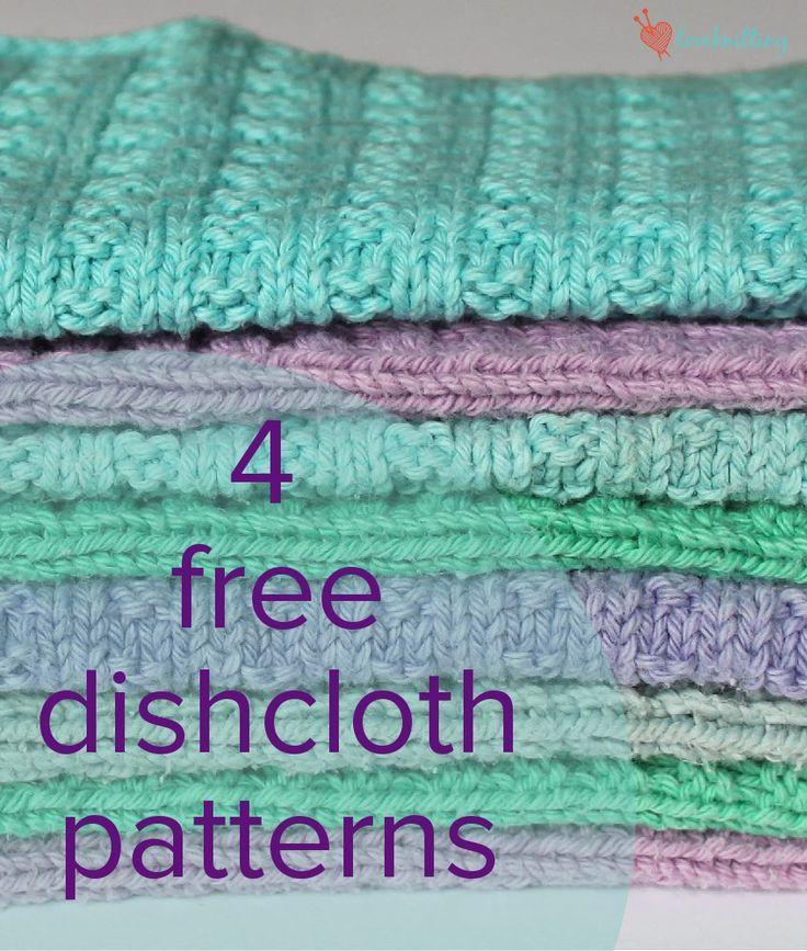 4 FREE dishcloth patterns - download at LoveKnitting! More
