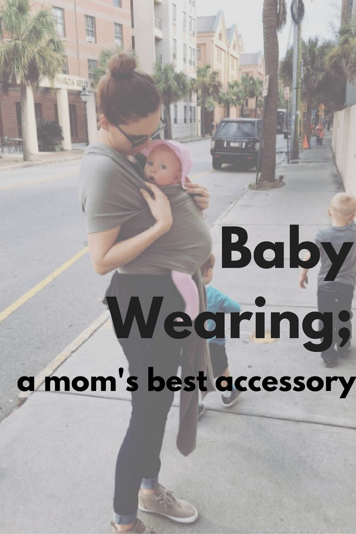 this season�s hottest mom-essory [aka baby wearing]