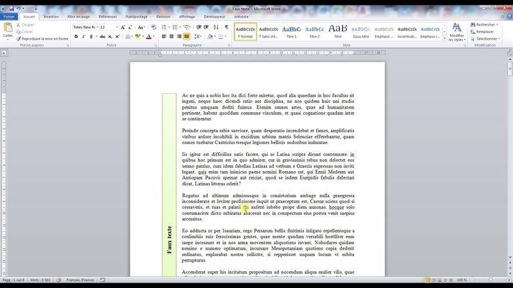 Tutoriel vidéo sur quelques astuces Word. Comment écrire verticalement ? Comment écrire en colonne ? Comment choisir une orientation paysage et portrait dans un même document ? Comment récupérer des styles d'un autre document ? Comment ne pas numéroter la première page et insérer 2 numéros de page différents dans un même document ?  Pour lire ce tutoriel en version texte, rendez-vous sur Votre Assistante : http://www.votreassistante.net/astuces-mise-en-forme-mise-en-page-word