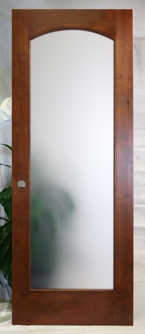 Decorations U0026 Accessories, : Interior French Frosted Glass Door With  Classic Lacquered Wood Door Frame Design