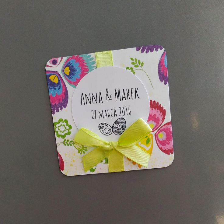 magnes na lodówkę handmade / fridge magnet handmade