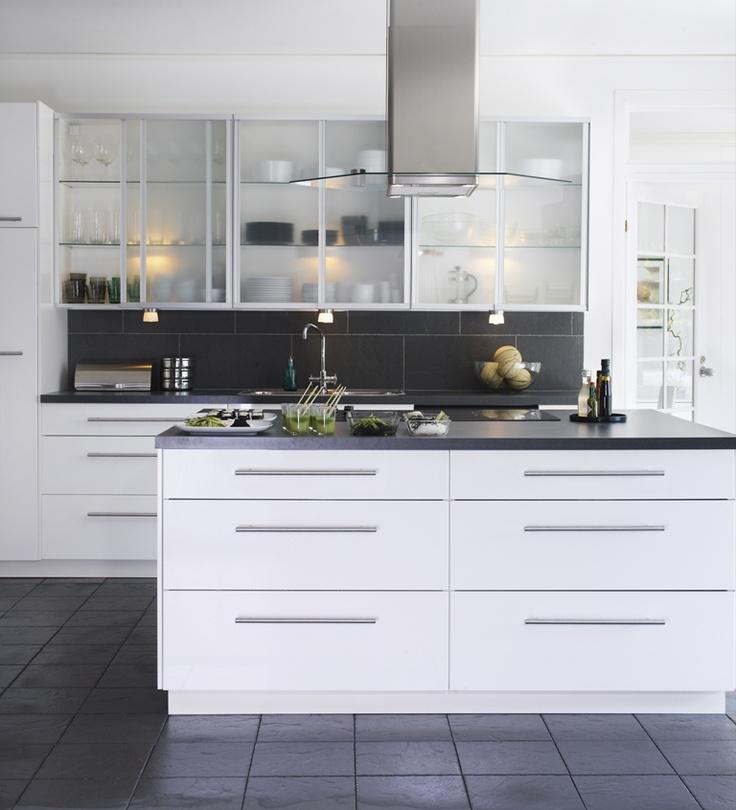 Ikea Kitchen Glass Cabinets: Gray Kitchenseasy On The Eye Kitchen Ikea Kitchen Grayikea