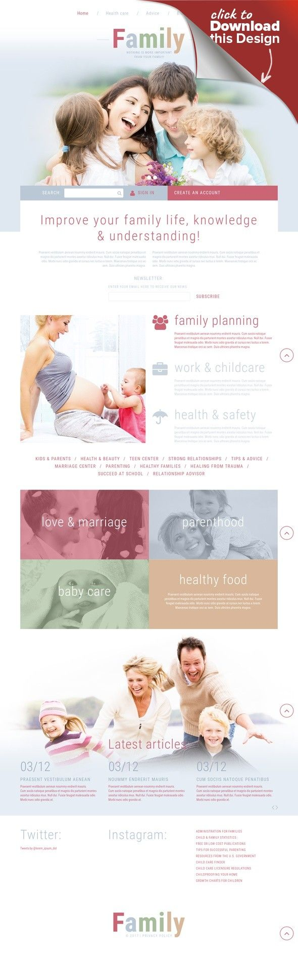 Family Joomla Template CMS & Blog Templates, Joomla Templates, Home & Family, Family Templates
