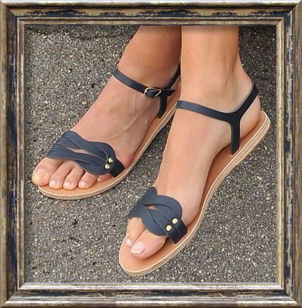 Ancient Greek Sandals Desmos Slide Sandal - popsugar.com