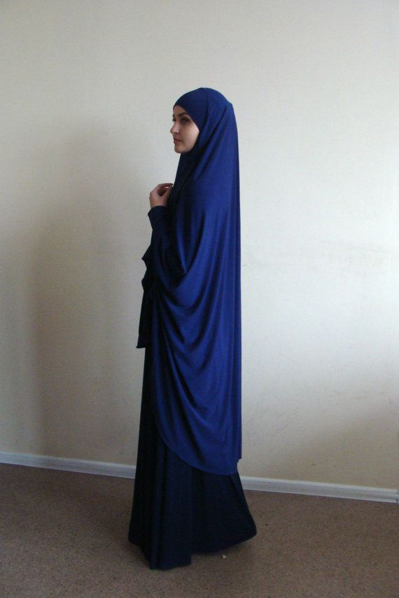 The original model of the traditional hijab - khimar, which is a single movement can become a niqab. You just need to lift hijab from his chin and closes face. affordable blue color is very practical, it looks noble and strict, not easily soiled and stylish. This model burkas have a cuff that will make your hijab is not only very beautiful but also convenient for daily use. This handy headdress like those who do not yet know how to wind a scarf, busy mums and female students. It is simple…