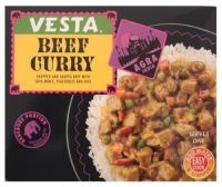 Buy 7 for £1.07 each    CHOPPED & SHAPED BEEF WITH SOYA MINCE, VEGETABLE & RICE
