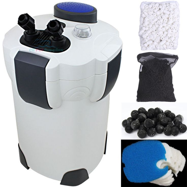 200 Gallon Aquarium Fish Tank External Canister Filter  Media Kits Self Priming