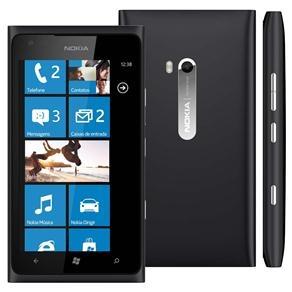Celular Desbloqueado Nokia Lumia 900 Preto com Windows Phone, Câmera 8MP, Internet Explorer 9, 3G, Wi-Fi, Bluetooth, Pacote Office e Fone de Ouvido