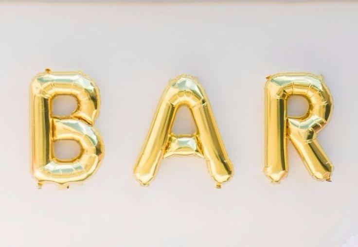 "13.5"" GOLD FOIL LETTER BALLOON - Shop Sweet Lulu #balloons #blacktwinepartyblueprint"