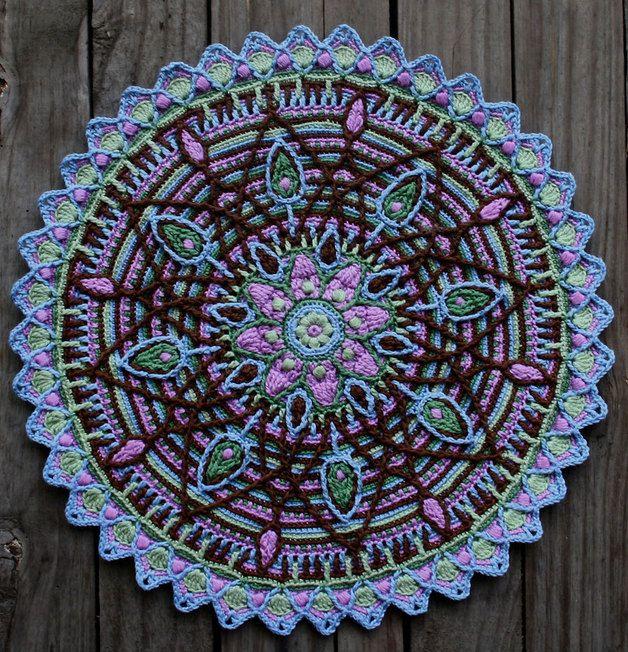 Crochet overlay mandala no 5 pattern pdf overlays for Pattern overlay