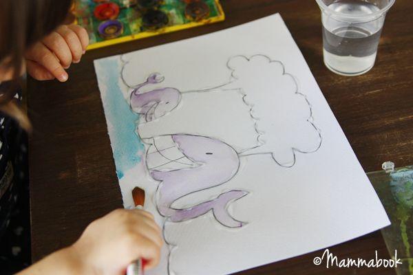 Mammabook: Attività artistiche per bambini: il trucco per dipingere con gli acquarelli – How to easy watercolor paint for small kids