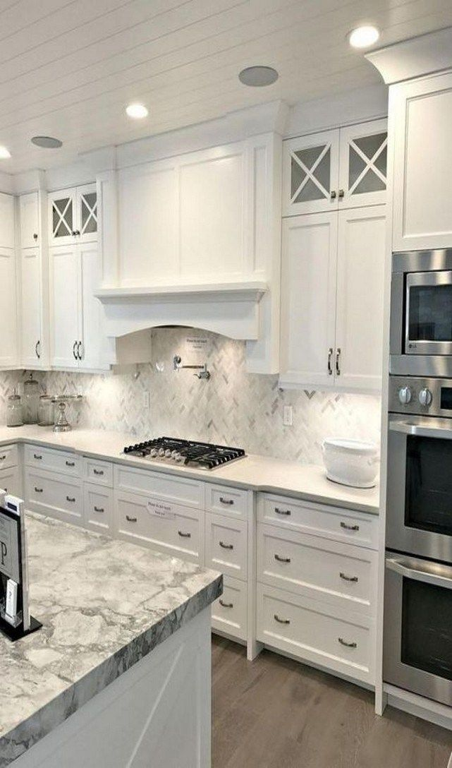 62 Inexpensive White Kitchen Cabinets Decor Ideas To Try 16